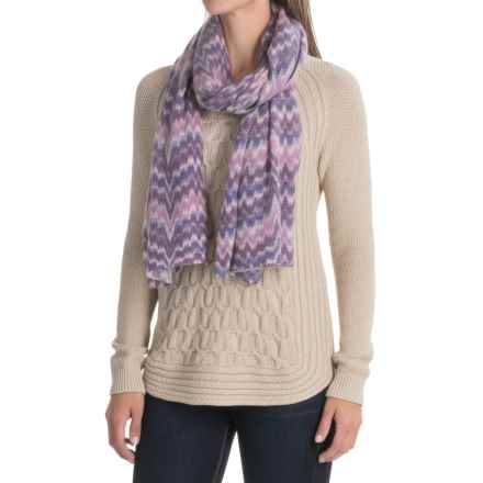 La Fiorentina Wool and Cashmere Blend Wrap (For Women) in Purple Combo - Closeouts