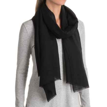 La Fiorentina Wool Wrap (For Women) in Black - Closeouts