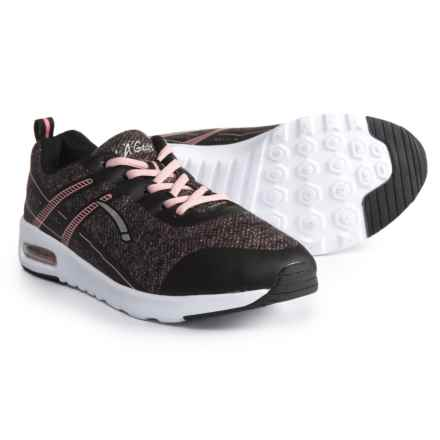LA GEAR Dazzle Sneakers (For Girls) in Black/Pink - Closeouts