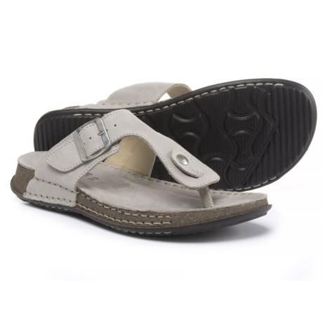 La Plume Cactus Comfort Sandals - Leather (For Women) in Beige Nb