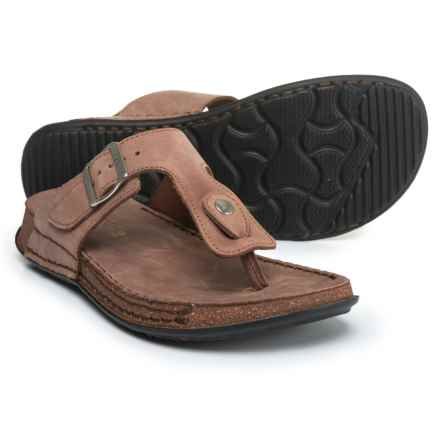 La Plume Cactus Comfort Sandals - Leather (For Women) in Brown Nb - Closeouts