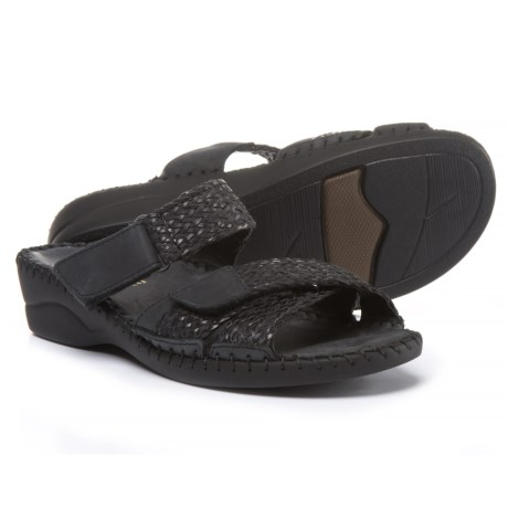 La Plume Claire Wedge Sandals - Leather (For Women) in Black
