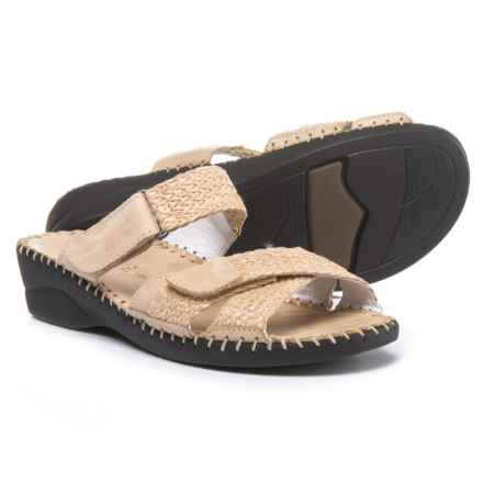 La Plume Claire Wedge Sandals - Leather (For Women) in Bone - Closeouts