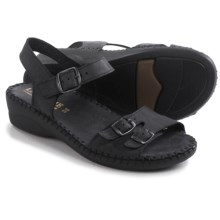 La Plume Jupiter Sandals - Leather (For Women) in Black - Closeouts