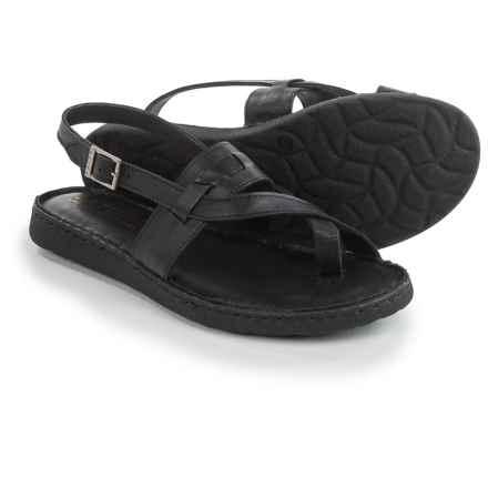 La Plume Logan Sandals - Leather (For Women) in Black - Closeouts