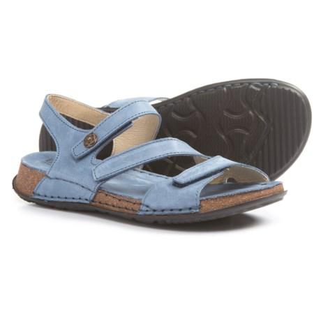La Plume Maple Sandals - Leather (For Women) in Denim