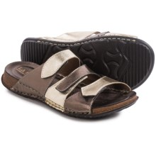 La Plume Roberta Sandals (For Women) in Pewter Multi - Closeouts
