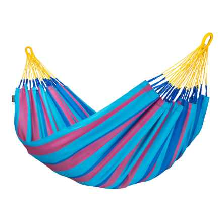La Siesta Colombian Sonrisa Hammock - Weatherproof, Single in Wild Berry - Closeouts