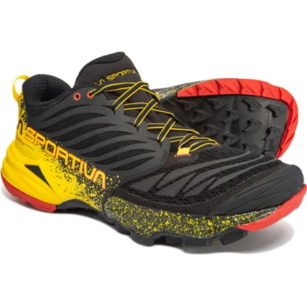 b3d091eff La Sportiva Akasha Trail Running Shoes (For Men) in Black Yellow - Closeouts