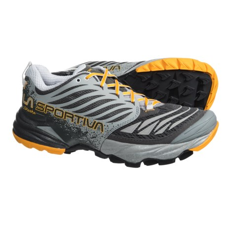 La Sportiva Akasha Trail Running Shoes (For Women) in Grey/Papaya