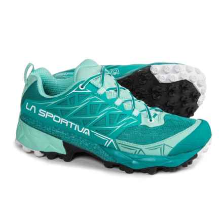 La Sportiva Akyra Trail Running Shoes (For Women) in Emerald/Mint - Closeouts