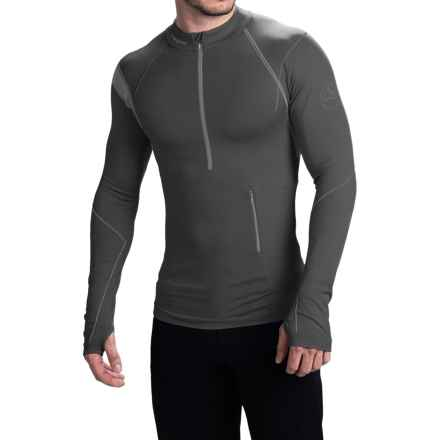 La Sportiva Atmosphere Base Layer Top - Zip Neck, Long Sleeve (For Men) in Grey - Closeouts