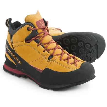 La Sportiva Boulder X Mid Gore-Tex® Hiking Boots - Waterproof (For Men) in Nugget - Closeouts