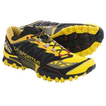 La Sportiva Bushido Trail Running Shoes (For Men) in Black/Yellow - Closeouts