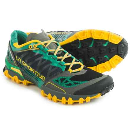 La Sportiva Bushido Trail Running Shoes (For Men) in Green/Grey - Closeouts