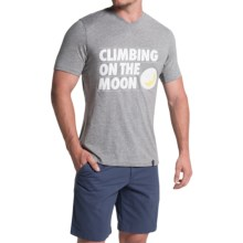 La Sportiva Climbing On The Moon T-Shirt - Cotton, Short Sleeve (For Men) in Midgrey - Closeouts