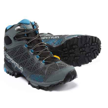 La Sportiva Core High Gore-Tex® Hiking Boots - Waterproof (For Men) in Carbon/Blue - Closeouts