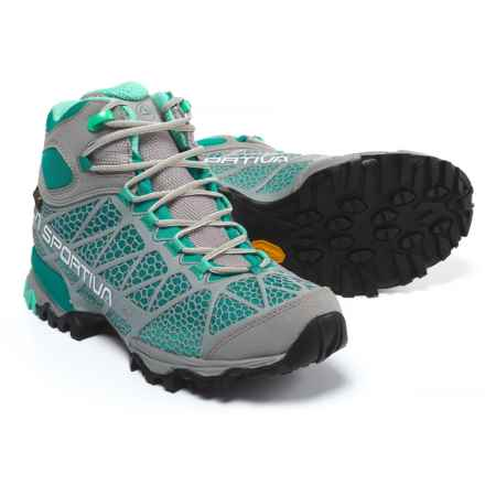 La Sportiva Core High Gore-Tex® Hiking Boots - Waterproof (For Women) in Grey/Mint - Closeouts