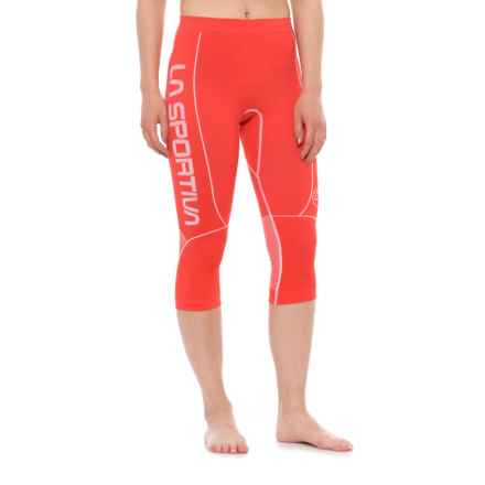 La Sportiva Crux Tights (For Women) in Coral - Closeouts