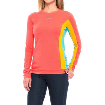 La Sportiva Elixir Shirt - Organic Cotton, Long Sleeve (For Women) in Coral Yellow - Closeouts
