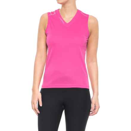 La Sportiva Flight Tank Top - V-Neck (For Women) in Pink - Closeouts