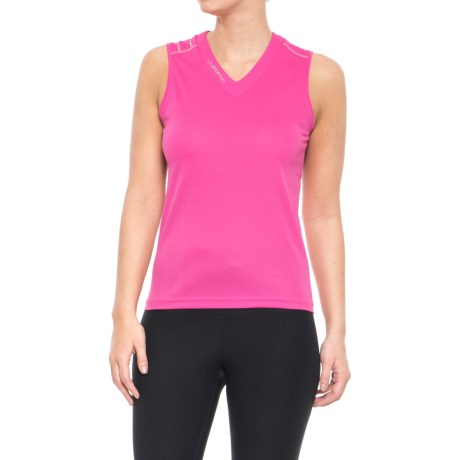 La Sportiva Flight Tank Top - V-Neck (For Women) in Pink