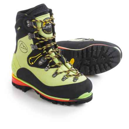 La Sportiva Gore-Tex® Nepal Evo Mountaineering Boots - Waterproof, Insulated, Leather (For Women) in Lime - Closeouts