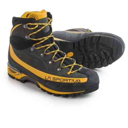 La Sportiva Gore-Tex® Trango Alp Evo Mountaineering Boots - Waterproof, Idro-Perwanger® Leather (For Men) in Grey/Yellow - Closeouts