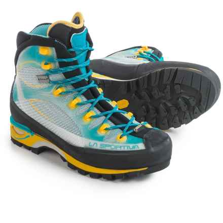 La Sportiva Gore-Tex® Trango Cube Mountaineering Boots - Waterproof (For Women) in Malibu Blue/Yellow - Closeouts