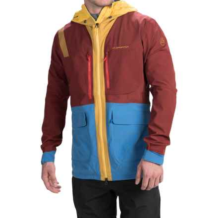 La Sportiva Halo Jacket (For Men) in Rust/Sea Blue - Closeouts