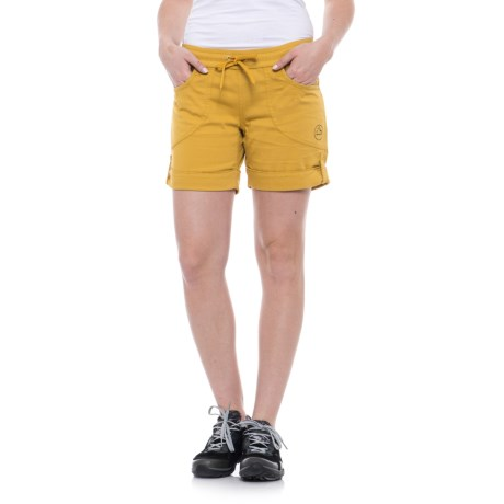 La Sportiva Hueco Shorts - Cotton Blend (For Women) in Nugget