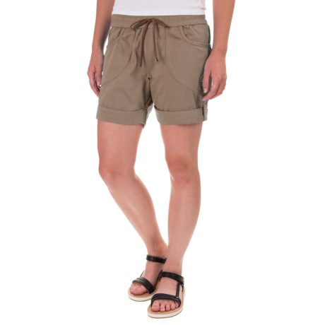La Sportiva Hueco Shorts - Cotton Blend (For Women) in Taupe