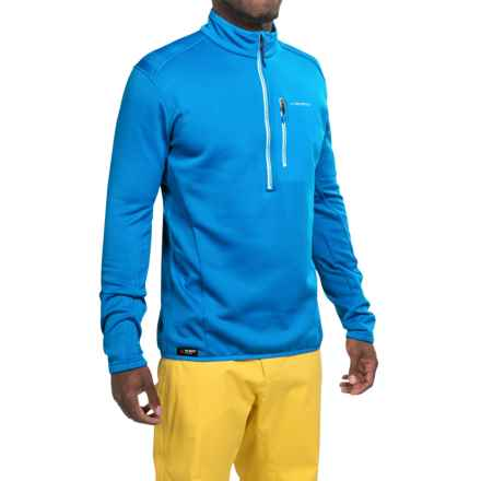 La Sportiva Icon Polartec® Power Dry® Pullover Shirt - Zip Neck, Long Sleeve (For Men) in Blue - Closeouts