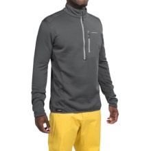 La Sportiva Icon Polartec® Power Dry® Pullover Shirt - Zip Neck, Long Sleeve (For Men) in Grey - Closeouts