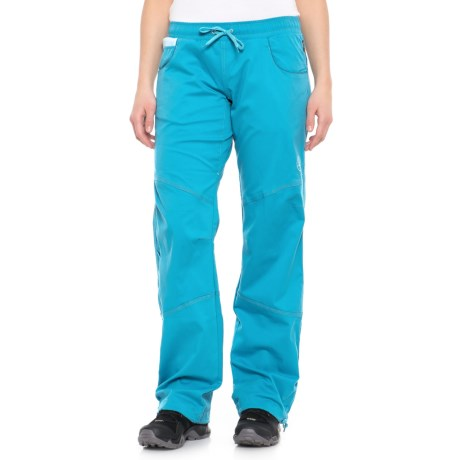 La Sportiva Kalymnos Pants - Stretch Cotton (For Women) in Blue Moon