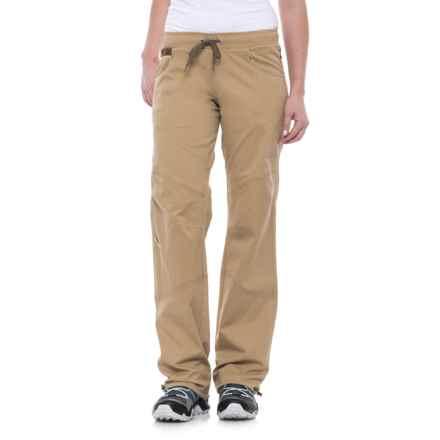 La Sportiva Kalymnos Pants - Stretch Cotton (For Women) in Safari - Closeouts