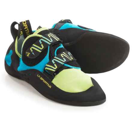 La Sportiva Katana Climbing Shoes (For Men and Women) in Green/Blue - Closeouts