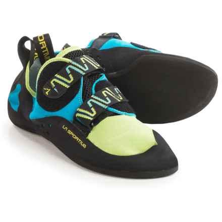 La Sportiva Katana Climbing Shoes (For Men and Women) in Green/Blue - Closeouts