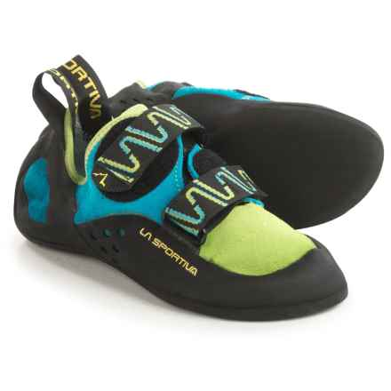 La Sportiva Katana Climbing Shoes (For Men) in Green/Blue - Closeouts