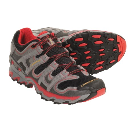 La Sportiva Lynx Trail Running Shoes (For Men and Youth Boys) in Black/Red