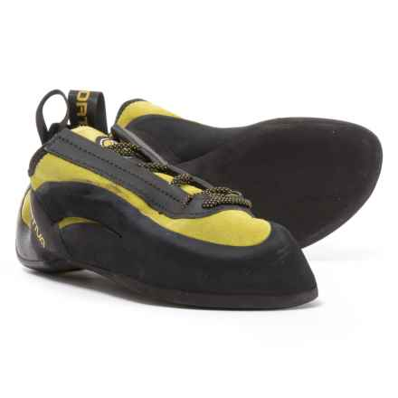 La Sportiva Made in Italy Miura Flat-Last Climbing Shoes (For Men and Women) in Black/Yellow - Closeouts