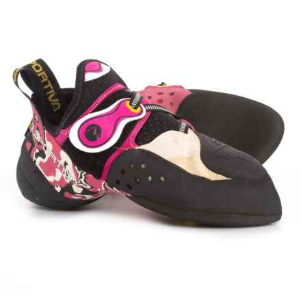 La Sportiva Made in Italy Solution Climbing Shoes (For Women) in White/Pink - Closeouts