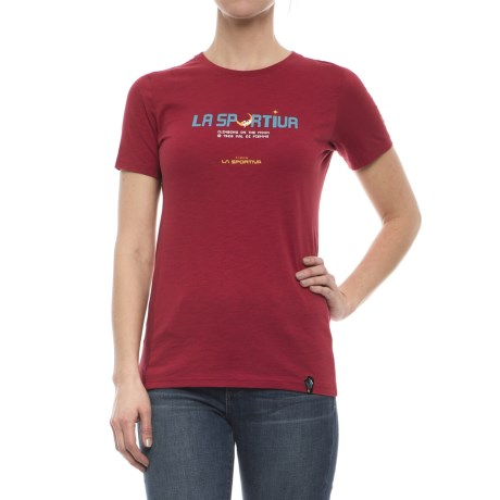 La Sportiva Metroid T-Shirt - Short Sleeve (For Women) in Berry
