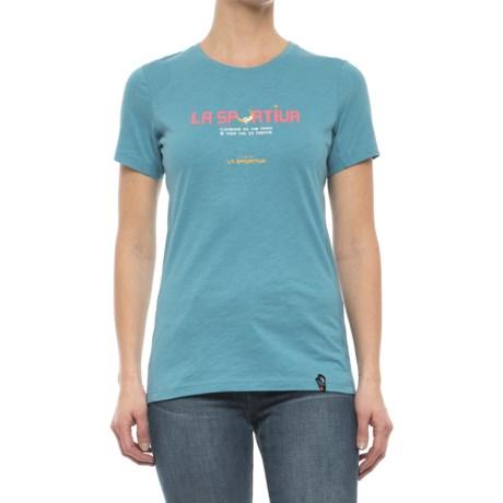 La Sportiva Metroid T-Shirt - Short Sleeve (For Women) in Bluemoon