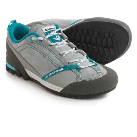 La Sportiva Mix Approach Climbing Shoes - Suede (For Women) in Grey/Fjord - Closeouts