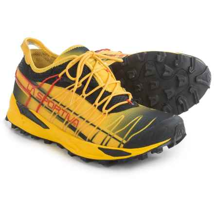 La Sportiva Mutant Trail Running Shoes (For Men) in Black/Yellow - Closeouts