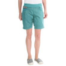 La Sportiva Oliana Shorts - Stretch Cotton Canvas (For Women) in Ice Blue - Closeouts