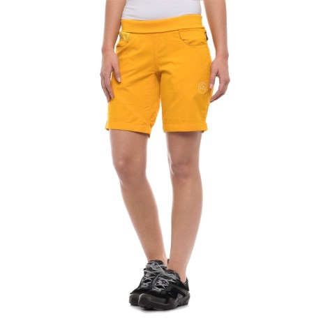 La Sportiva Oliana Shorts - Stretch Cotton Canvas (For Women) in Papaya