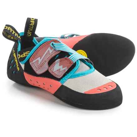 La Sportiva Oxygym Climbing Shoes (For Women) in White/Coral - Closeouts