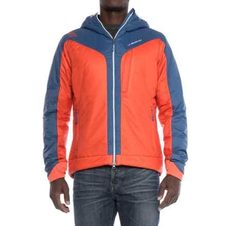 La Sportiva Pegasus 2.0 PrimaLoft® Hooded Jacket - Insulated (For Men) in Flame/Dark Sea - Closeouts